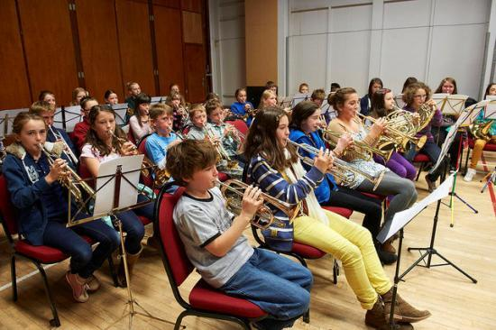Photograph of Young Musicians In Tune For Highland Music Day
