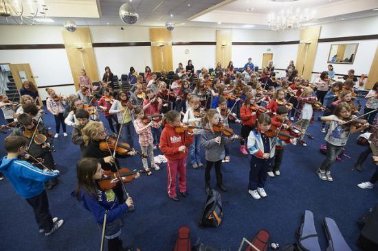 Photograph of Young Violinists At Highland Music Day