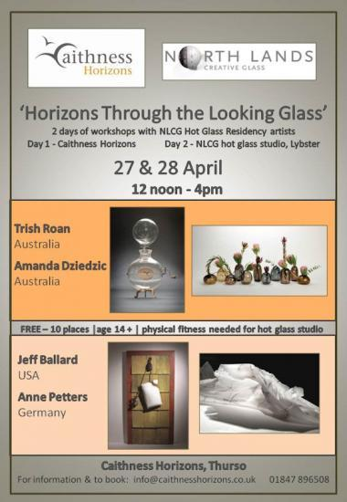 Photograph of Northlands Glass 27th & 28th April - Work With Hot Glass