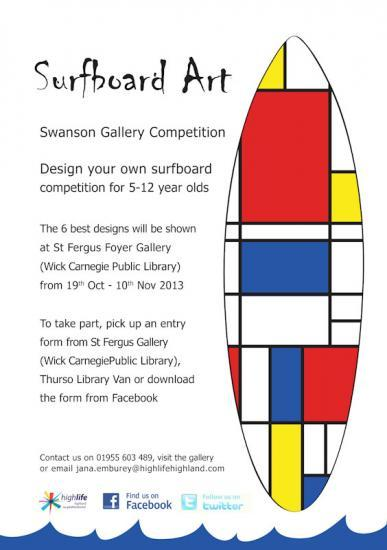 Photograph of Surfboard Art Competition For 5 - 12 Year olds