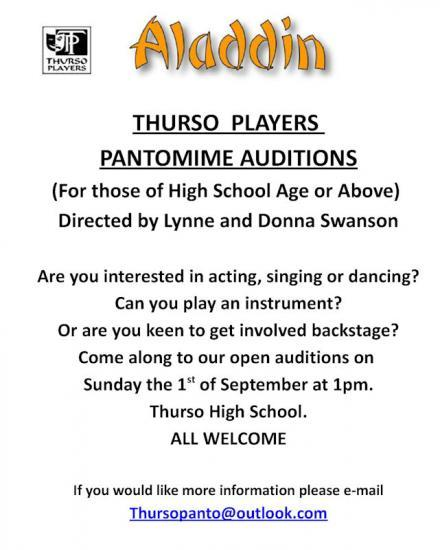 Photograph of Aladdin - Thurso Auditions