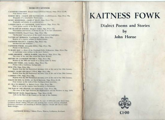 Photograph of Kaitness Fowk - Poems and Stories By John Horne