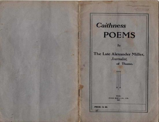 Photograph of Caithness Dialect Poetry of Alexander Miller