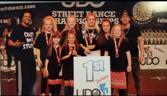 Photograph of Rush.dance kids winning their way to European and World Championships