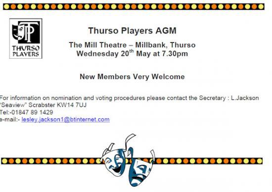 Photograph of Thurso Players AGM