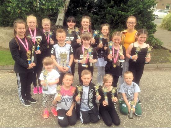 Photograph of Rushdance Kids Swept The Boards At Hip Hop Competitions in Grangemouth