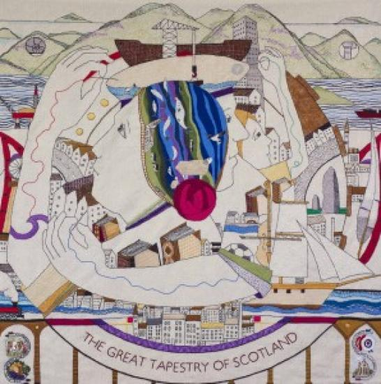 Photograph of The Great Tapestry Of Scotland At Inverness Museum and Art Gallery