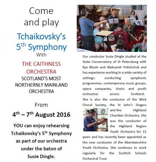 Photograph of Come and play Tchaikovskys 5th Symphony With The Caithness Orchestra
