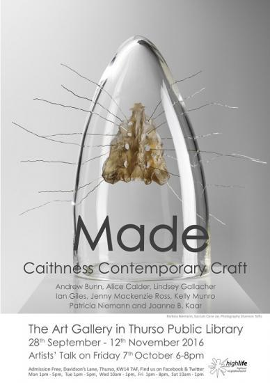 Photograph of Artisits Talk Thurso - 7th October - Made - Caithness Contemporary Craft