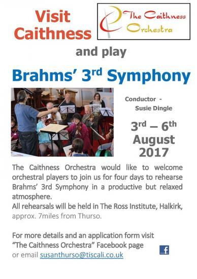 Photograph of Visit Caithness and Play Brahms 3rd Symphony