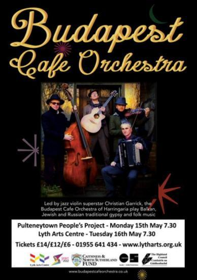 Photograph of Budapest Cafe Orchestra - Lyth Arts Centre -Tuesday 16th May 2017