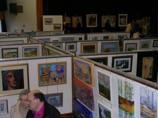 Photograph of Society Of Caithness Artists - Handing In Day For Exhibition