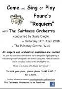 Thumbnail for article : Come And Sing Or Play Faure's Requiem With The Caithness Orchestra