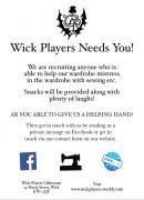Thumbnail for article : Wick Players Looking For Wardrobe Helpers