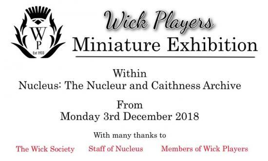 Photograph of Wick Players - Mini Exhibition