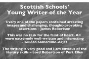 Thumbnail for article : Scottish Schools Young Writer Of The Year