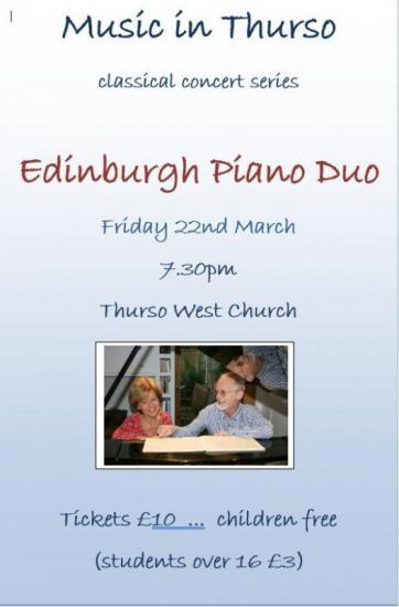 Photograph of Music In Thurso - Edinburgh Piano Duo