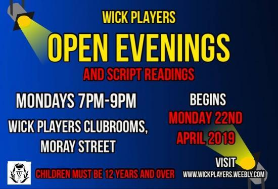 Photograph of Wick Players Announcements For Kids And Panto - Two Separate Events