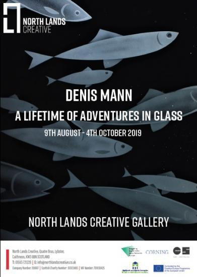 Photograph of A Life Time of Adventures in Glass - solo exhibition by Denis Mann