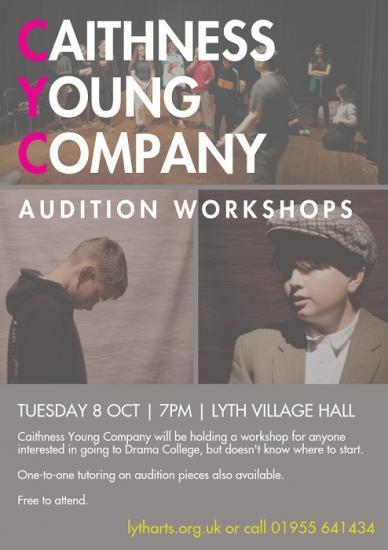 Photograph of Caithness Young Company Audition Workshops