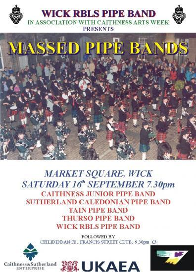 Photograph of Massed Pipe Bands - Wick - Saturday 16th September