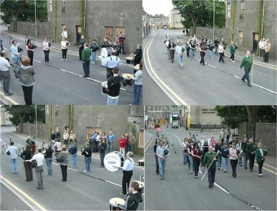 Photograph of Roadworks Allow Extra Pipe Band Practice In The Street