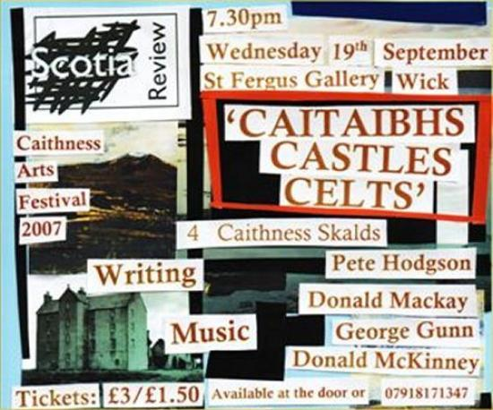 Photograph of Scotia Review - 'CATIABHS CASTLES CELTS - 4 Caithness Skalds'