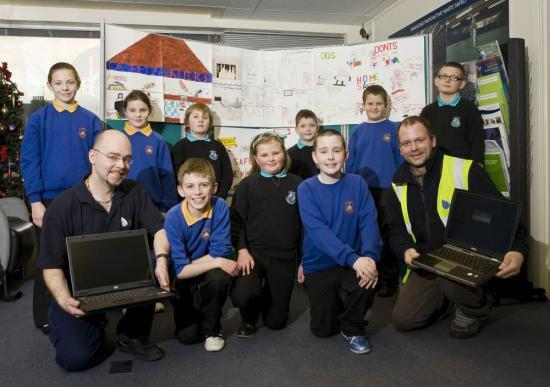 Photograph of North Primary Schools Artwork Wins Laptops