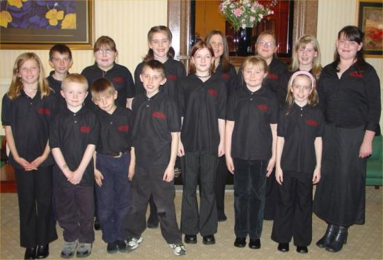 Photograph of Children's Choir Sing at BB Reception