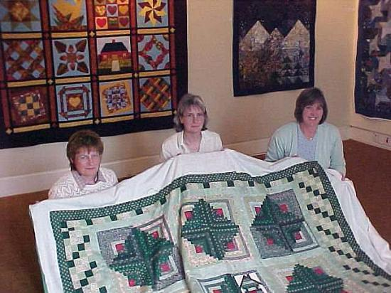 Photograph of Caithness Quilters Working In St Fergus Gallery