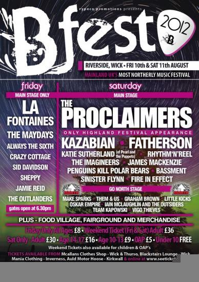 Photograph of Great Line Up For Bfest Music Festival at Wick